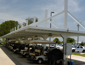 aluminum shade covers for golfcarts
